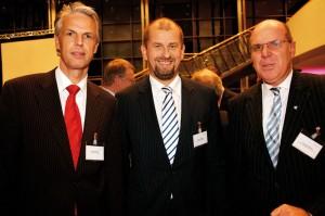 Thomas Morbach (Audi Kassel), Niels Kowollik (Mercedes Kassel) und Johannes Sczepan (Plansecur)(v.l.). Foto:Mario Zgoll
