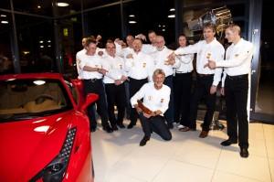 Helmut Eberlein und sein Team. Foto: Privat