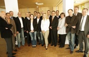 Die Teilnehmer der Jérôme-Business-Loung am 14. April, die sich mit dem Mediendschungel befasste. Foto: Mario Zgoll