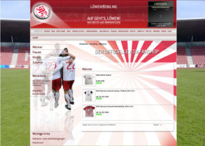 So sieht er aus: Der Webshop auf der neuen Internetseite des KSV. Screenshot: nh