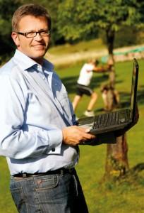 Hütt-Verkaufsleiter Norbert Pustlauk ist einer der vier Initiatoren des Laufsportportals. Foto: Mario Zgoll