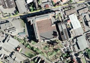 Blick von oben auf das Salzmanngebäude. Quelle: Google Earth