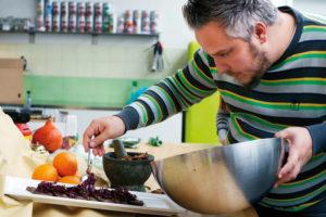 Fliegende Köche-Chefkoch Christoph Brand. Foto: Mario Zgoll