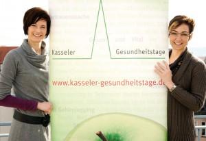 Projektmanagerin Michaela Willmann (links) und Bettina Ungewickel, Leitung Gesundheit im Regionalmanagement Nordhessen, freuen sich auf die neunte Auflage der Kasseler Gesundheitstage. Foto: Mario Zgoll