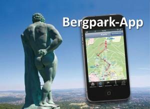 Ausschnitt aus einem Werbeplakat für die Bergpark-App. Quelle: Stadt Kassel