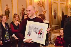 Leonard Riegel bei der Preisverleihung in Paris. Foto: Deutsche Botschaft Paris