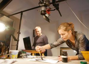 Die beiden Filmkünstler Thomas Stellmach und Maja Oschmann. Foto: Mario Zgoll