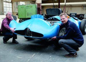 Holen einzigartige Automobile wie diesen Bugatti T 251 Formel 1-Wagen aus dem Jahr 1955 nach Kassel: Dr. Dietrich Krahn und Heinz W. Jordan. Foto: Mario Zgoll
