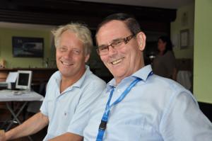 Turnierdirektor Dr. Eberhard Engelmann und Marketingleiter Rolf Schünemann (v.l.). Foto: Alexander Halpape
