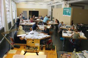 21 Teilnehmer aus Deutschland, Österreich und Frankreich füllten vom 3. bis 8. August die Caricatura Galerie mit ihrer kreativen Energie. Foto: Kocer Yüksel