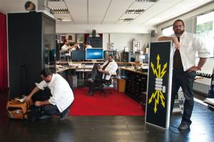 Vom Bühnenbildner zum Kreativunternehmer:  Sebastian Fleiter setzt künstlerische Ideen in die Tat um. Foto: Andreas Weber