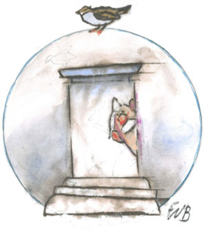 Karikatur: F. W. Bernstein