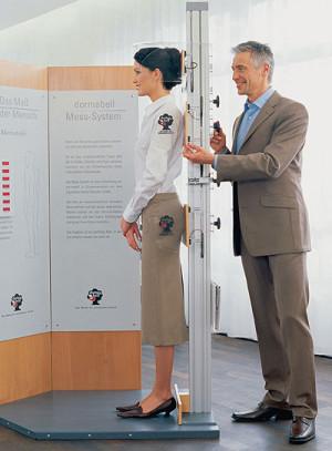 Körpervermessung mit dem Dormabell-Messysystem. Foto: nh