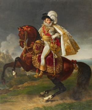 """""""Jerome zu Pferde"""", Antoine Jean Baron Gros zugeschrieben. Das monumentale Reiterbildnis ließ Jerome reproduzieren, um es als diplomatisches Geschenk zu verwenden. Foto: museumslandschaft hessen kassel"""