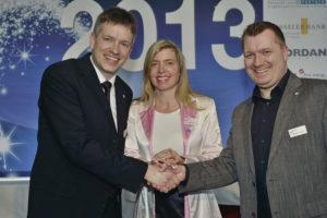 Ein starkes Team: Vorstandssprecher der Wirtschaftsjunioren Stephan Moers, Frauke Syring und Marc Gallus (v.l.). Foto: Markus Frohme