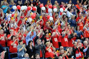 MT-Fans beim letztjährigen Final Four in der Hamburger o2 World. Foto: Hartung
