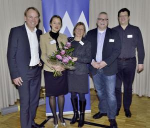 Zuversichtlich zeigte sich der Vorstand des Marketing-Clubs Nordhessen nach der gelungenen Jahresauftaktveranstaltung im Januar (v.l.): Martin Benderoth, Referentin Ulla Hüppe, Angelika Hüppe,  Wolfgang Weber und Harnald Henze. Foto: nh