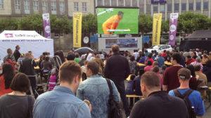 Großes Public-Viewing auf dem Kasseler Königplatz