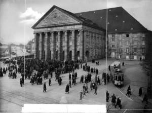 Diese Aufnahme der Stadthalle stammt ungefähr aus dem Jahr 1925. Foto: Carl Eberth