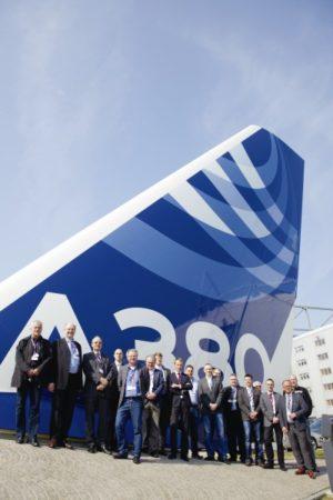 Informative Geschäftsreisen: Eine CCA-Delegation zu Besuch bei Airbus in Hamburg 2014. Foto: Airbus, M. Lindner