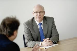 Ralf Schustereder im Gespräch mit Jérôme-Redakteur Ralph-Michael Krum. Foto: Mario Zgoll