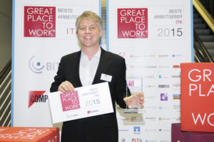 Micromata-CEO Kai Reinhard freut sich über die Auszeichnung. Foto: Micromata
