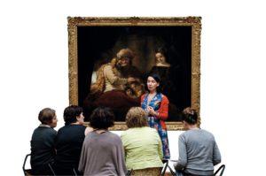 """Rembrandts """"Jakobs Segen"""" zählt zu den Schätzen der Gemäldegalerie Alte Meister im Museum Schloss Willhelmshöhe. Foto: Sven Heine"""
