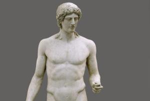 Kasseler Apoll, Marmor, Römische Kopie, um 90-110 n. Chr. nach griechischem Vorbild 460-450 v. Chr. Foto: MHK