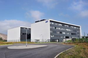 Blick auf das neue Analytik- und Forschungszentrum (AFZ) der K+S-Gruppe in Unterbreizbach/Thüringen. Foto: nh