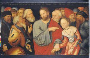 """""""Christus und die Ehebrecherin"""". Auch dieses Gemälde wird in der Ausstellung im Schloss zu sehen sein. Foto: nh"""