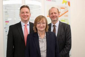 Im Amt bestätigt: Kai-Lorenz Wittrock, Dr. Heike Krömker und Dr. Thorsten Siodla (Vorsitzender). Foto: nh