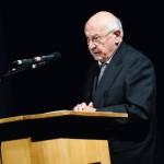 Festredner Dieter Kronzucker, Journalist und Fernsehmoderator. Foto: Mario Zgoll