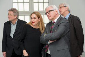 Frank-Walter Steinmeier zu Besuch im Fridericianum. Foto: Nils Klinger