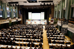Im Dezember 2015 fand im Kongress Palais Kassel der 16. Internationale BHB-Kongress statt. Tagung im Festsaal. Foto: Kassel Marketing GmbH / Fotograf: Mario Zgoll