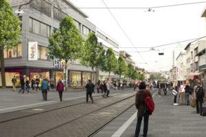 Blick in die Untere Königsstraße. Foto: nh