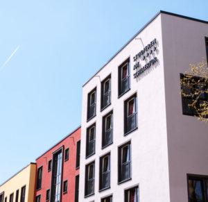 Urbanes Umfeld in direkter Nähe zum Campus. Foto: Verein SchillerViertel e.V.