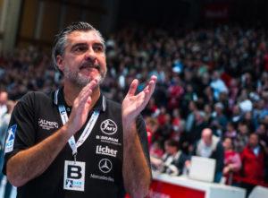 Michael Roth, Trainer der MT Melsungen. Foto: Alibek Käsler