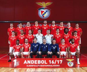 Das Handball-Team von Benfica Lissabon. Foto: Archiv