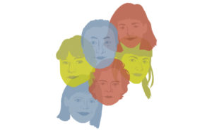 Dieses ikonenhafte Gruppenbild zeigt die Animationsfilm-Künstler Karolin Twiddy, Ingrid Fischer, Chengjie Xu, Eeva Ojanderä, Theresa Grysczok und Daniel Maaß. Bild: Kunsthochschule Kassel