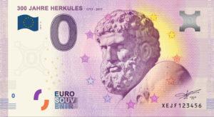 Der Herkules-0-€- Souvenierschein. Bild: Museumslandschaft Hessen Kassel