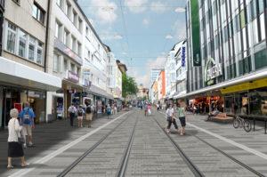 Die neue Beleuchtung in der Königsstraße. Foto: Stadt Kassel