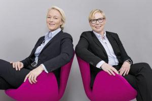 Sonja Trieschmann und Eveline Siehler (v.l.), geschäftsführende Gesellschafterinnen von Müller + Partner. Foto: Müller + Partner
