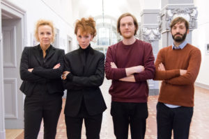 Katja Riemann, Sibylle Berg, Jakob Nolte, Benjamin Vieth (v.l.). Foto: Anja Köhne