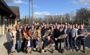 Vertreter der teilnehmenden Restaurants, DEHOGA, Regionalmanagement Nordhessen und Fischzüchter Rameil. Foto: Regionalmanagement Nordhessen