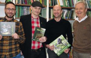 Freuen sich auf eine erfolgreiche Zusammenarbeit: Sebastian Härtig, Heiko Schwartz, Sven Baumbach, Conrad Fischer. Foto: nh